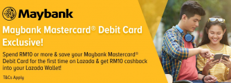 Lazada x Maybank Mastercard Debit Card Exclusive