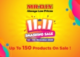 MR DIY: 11.11 Smashing Sale