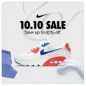 Nike 10.10 Sale: Save Up To 40% Off