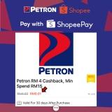 Shopee x Petron: RM4 Cashback