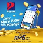 Touch 'n Go eWallet Promotion: Petron RM5 Cashback