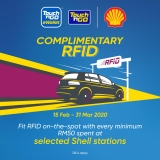 TNG eWallet: Complimentary RFID at Shell Stations!