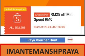 Raya Bersama Shopee Special Vouchers for 23.04 Sale
