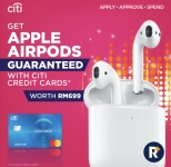 Apply Citibank Credit Card via RinggitPlus and Get a Apple AirPods worth RM699