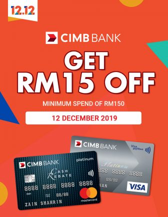 Shopee 1212 Birthday Sale: CIMB RM15 Voucher
