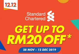 Shopee 1212 Birthday Sale: SCB RM20 and RM15 Voucher