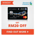Shopee x Standard Chartered: Get RM20 Off on Mondays