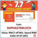 Shopee 7.7 – Voucher Hunt Code-RM17 Off Voucher