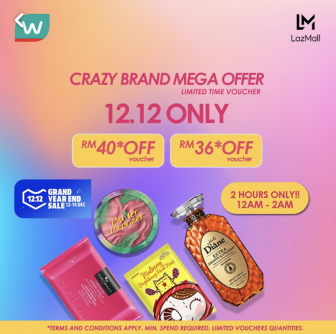 12.12 CRAZY BRAND MEGA OFFER! Watsons + LazMall