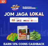 Shopee x Jom Jaga Lokal -13% Coins Cashback Voucher