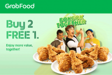GrabFood Promo: Buy 2, FREE 1 chicken meals