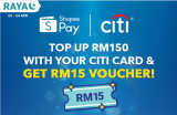 ShopeePay x Citi: Top Up Promotion