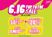 Watsons 6.16 Top to Toe Sale