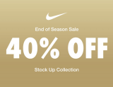 Nike: End of Season Sale-40% OFF