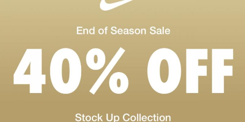 Nike: End of Season Sale-40% OFF