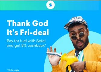 Setel: 5% Cashback