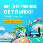 Setel: Refer 10 friends & get RM100 petrol credit