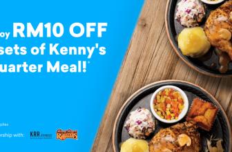 Setel: Enjoy RM10 off 2 sets of Kenny's Quarter Meal