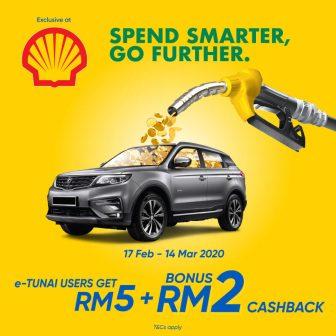 TNG eWallet: Shell RM2 Cashback Promotion- e-Tunai Rakyat