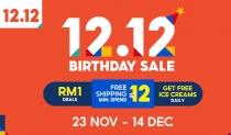 Shopee Malaysia's 12.12 Birthday Sale 2020
