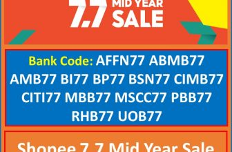 Lazada and Shopee 7.7 Mid Year Sale 2021 Bank and Partner Voucher