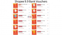 Collect Shopee 9.9 Bank Vouchers 2020