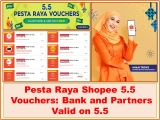 Shopee 5.5 Pesta Raya Vouchers