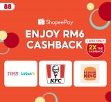 ShopeePay x Enjoy RM6 Cashback
