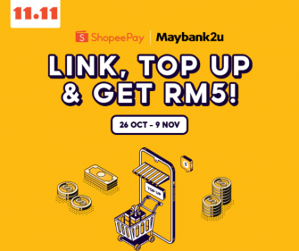 Link up your Shopee Pay with Maybank2u to get RM5 off!