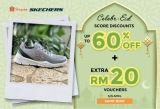 Skechers April Promotions, 60% OFF on Shopee and Lazada