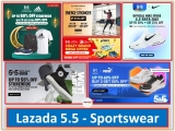 Lazada 5.5 Raya Sale: Midnight 12am-2am Sale For Sportswear