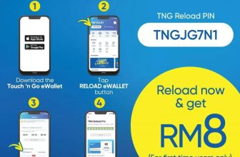 Touch 'n Go eWallet Reload PIN Code For New Users