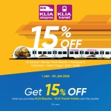 Touch 'n Go eWallet: Get 15% Off when you purchase KLIA Ekspres / KLIA Transit tickets