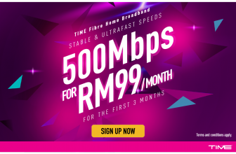 TIME Internet – 500Mbps for RM99/month (first 3 months)