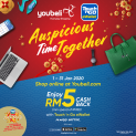 Youbeli x Touch 'n Go eWallet Promo: Spend min of RM50 and get RM5 Cashback