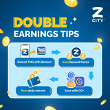 Reload TNG eWallet via ZCITY-Double Earning Tips
