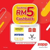 Zapp: RM5 Cashback Promo
