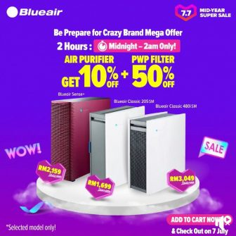 Blueair x Lazada Crazy brand mega offer