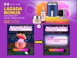 Lazada 8.8 Sale Bonus – Get RM8 every RM88 Spend