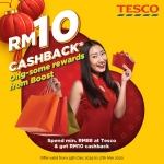 Boost your Ong at Tesco! RM10 Cashback