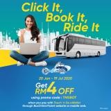 Touch N' Go eWallet: BusOnlineTicket Promo Code Worth RM4
