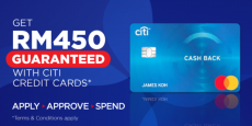 Apply Citibank Credit Card via RinggitPlus and Get RM450-Guaranteed