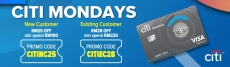 Lazada x Citibank Card Voucher Extra RM28 Off on Every Monday