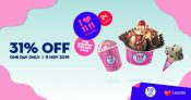 11.11 Lazada : Enjoy 31% OFF on selected Baskin-Robbins