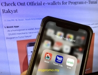 Get Official e-wallets for Program e-Tunai Rakyat