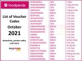 foodpanda: List of Promo/Voucher Codes for November 2021
