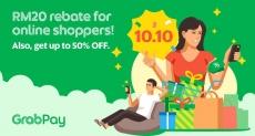 GrabPay 10.10: Get RM20 rebate