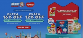 Lazada Big Baby Fair Promo with Huggies (Extra 16% Off)