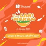 Shopee-Jom Cari Makan: Makan & Minum 50% OFF Daily