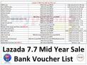 Lazada 7.7 Bank Vouchers